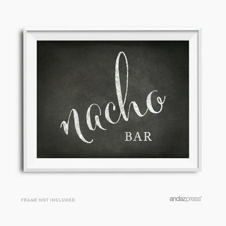 Nacho Bar Vintage Chalkboard Wedding Party Signs - Nacho Bar Toppings