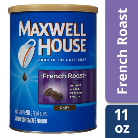Maxwell House French Roast Ground Coffee, 11 oz Can