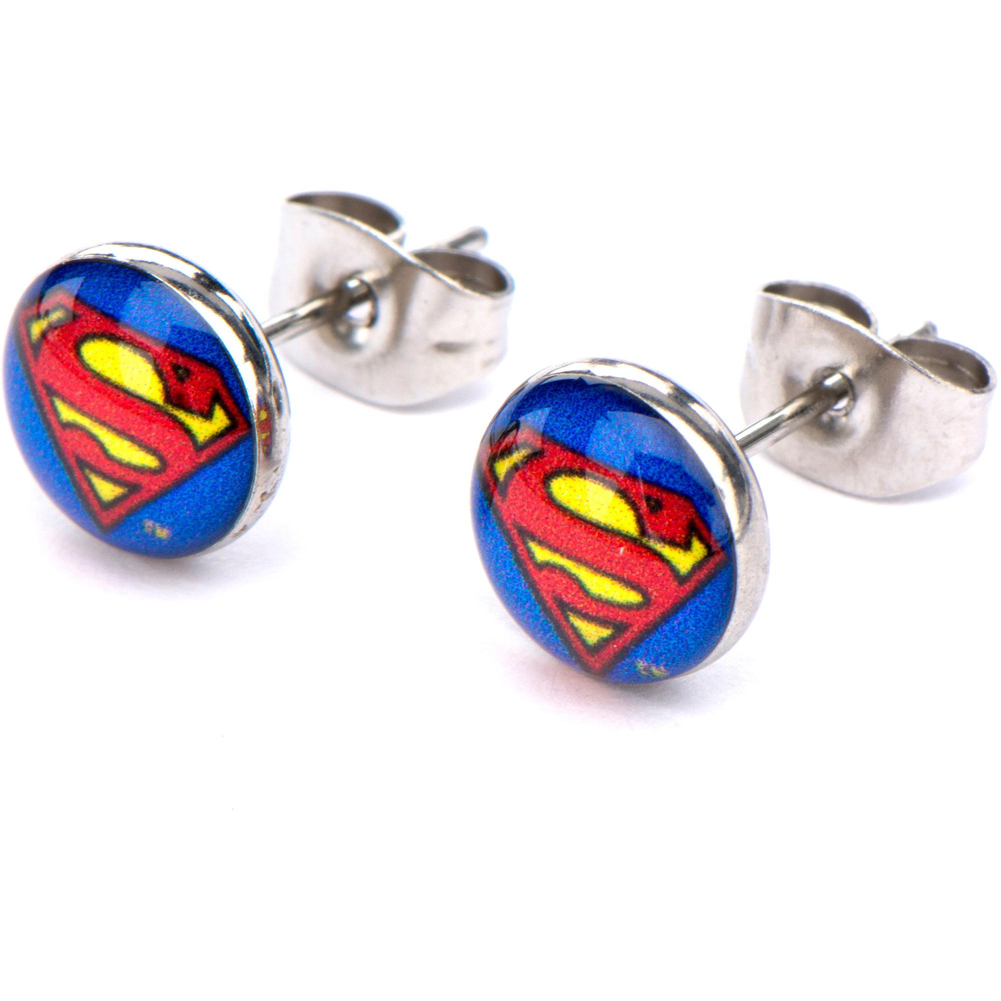 Superman Steel Stud Earrings