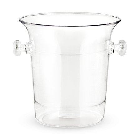 Large Insulated Ice Bucket, Clear Acrylic Durable Vintage Ice Bucket