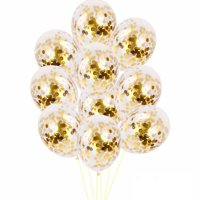 10pcs 12 inch Foil Latex Confetti Balloon Set Wedding Birthday Baby Shower