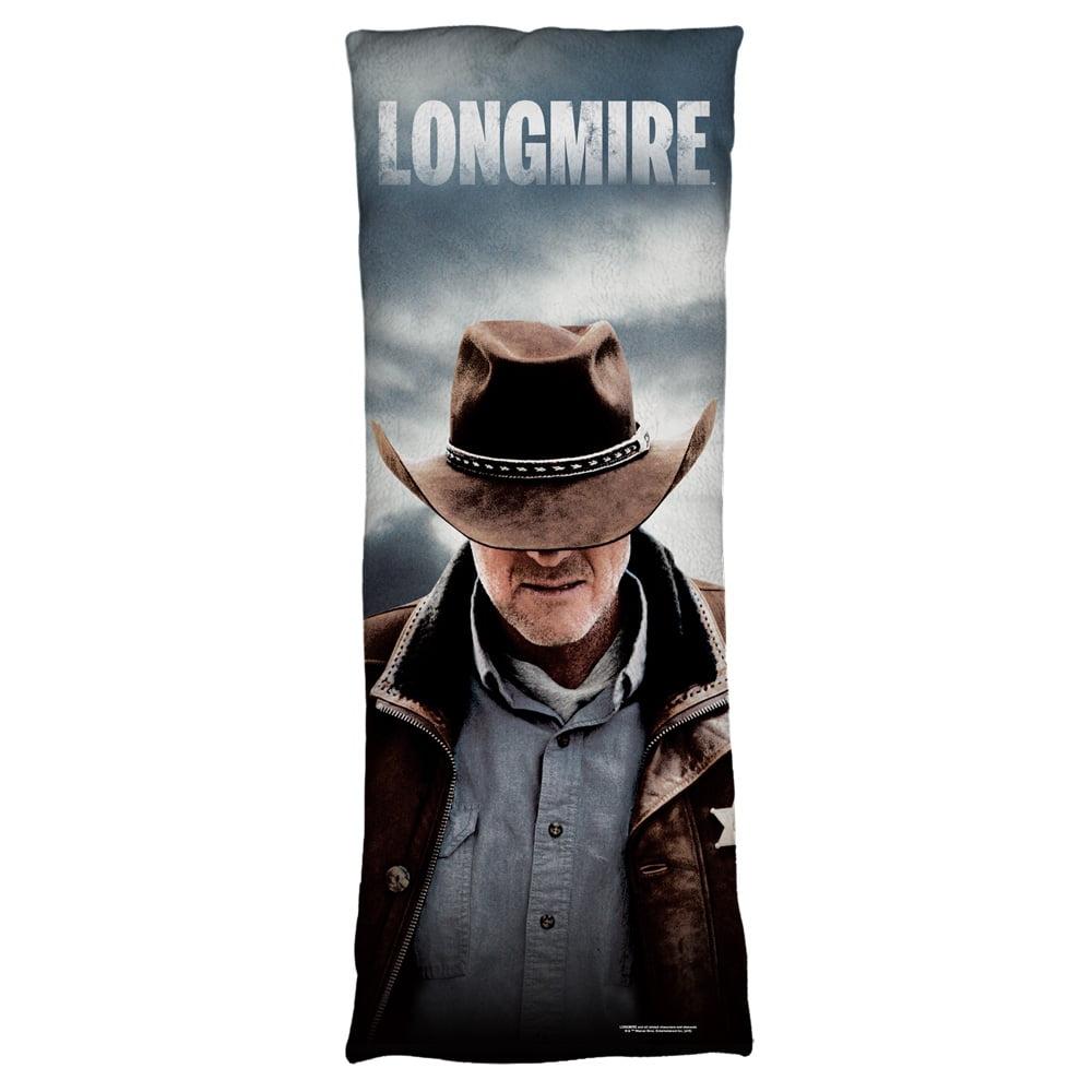 Longmire Sheriff Plush Fleece Body Pillow White 18X54