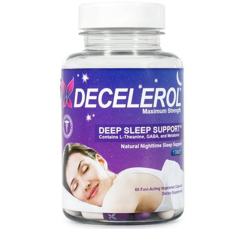 Decelerol sommeil de soutien Supplément au bois dormant 60 ct