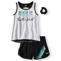 e28d756c9cae9 Product Image Open Back Graphic Tank and Mesh Short, 2-Piece Active Set  (Little Girls