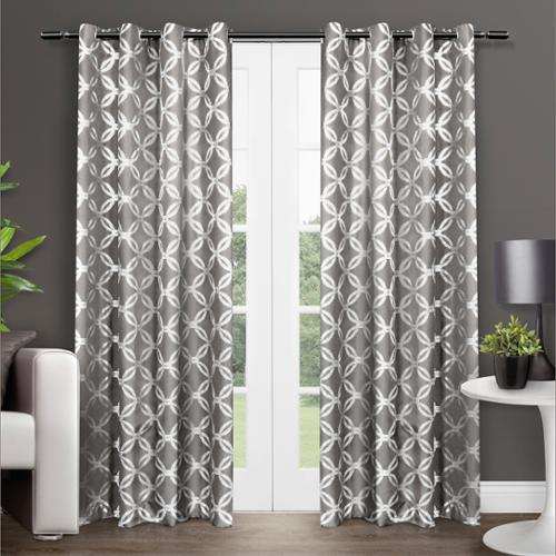 Modo Grommet Top 84-inch Curtain Panel Pair Natural