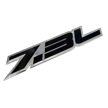 7.3L Liter BLACK Highly Polished Aluminum Silver Chrome Truck Engine Swap Badge Nameplate Emblem for Ford Intercooled Turbo Diesel Excursion F-Series Super Duty Truck Econoline Navistar ()
