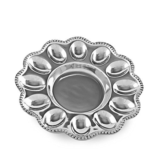 Beatriz Ball 6182 Pearl Deviled Egg Platter, Silver