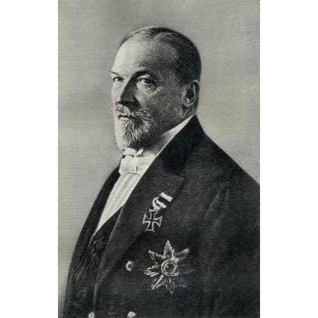 Prince Philippe Von Eulenburg 1847-1921 Stretched Canvas - Ken Welsh  Design Pics (12 x 19) (Pics Von Sonnenbrillen)
