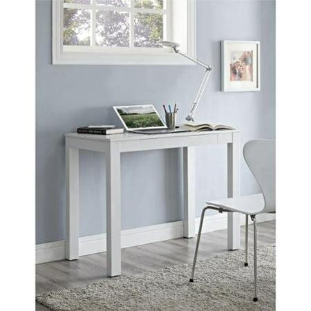 Ameriwood Home Delilah White Grey Chevron Parsons Desk