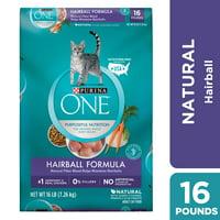 Purina ONE Hairball Natural Dry Cat Food Hairball Formula 16 lb. Bag