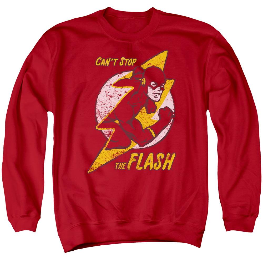 DC/FLASH BOLT - ADULT CREWNECK SWEATSHIRT - RED - XL
