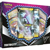 Pokemon TCG: Toxtricity V Box- 1 Foil Card | 4 booster Packs |Oversize Foil of Toxtricity V