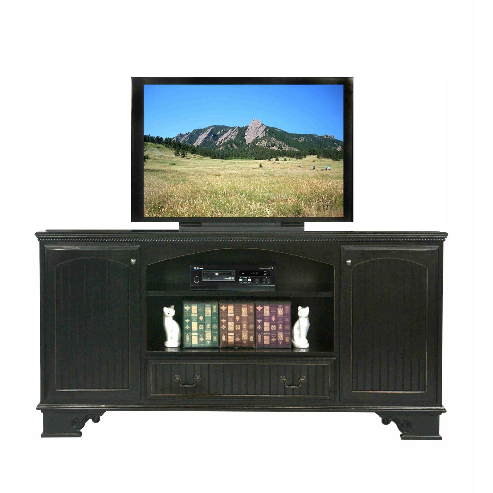 Eagle Furniture American Premiere 80 in. Entertainment Console with Optional hutch with 52 in. Opening