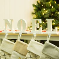 "Glitzhome 5.91""H ""NOEL"" Stocking Holder Set"