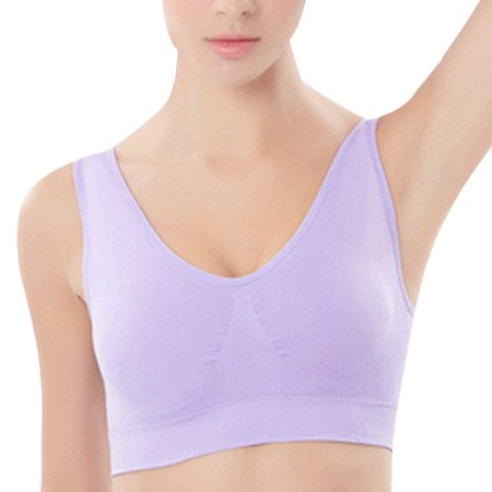 378c5c0f64a06 Royal-plush - Women Wirefree Seamless Sports Bra Girl Breathable Push Up  Yoga Running Top - Walmart.com