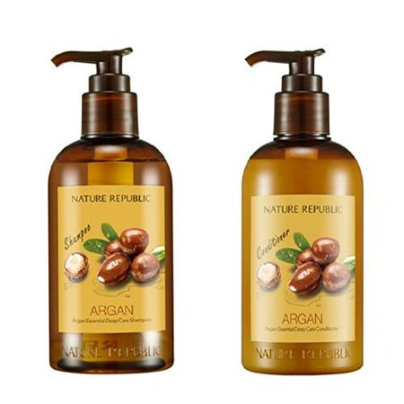 Essential Damage Care - ( Set ) [ Nature Republic ] Argan Essential Deep Care Shampoo and Conditioner Set