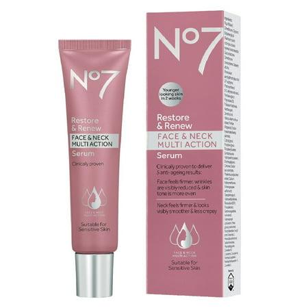 No7 Restore & Renew Face & Neck Multi Action Serum - 1.0 (Best Wrinkle Serum For Face Necks)