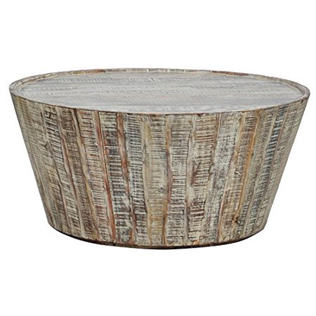 Kosas Home 51001257 Harbor Coffee Table Hand Distressed In Lime Wash