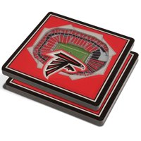 Atlanta Falcons 3D StadiumViews Coasters - Red