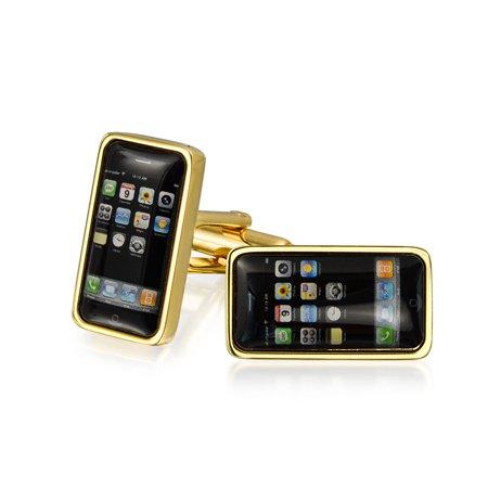 Black Cell Smart Phone Texting Addict Cufflinks For Men Shirt Cuff Links Hinge Back Gold Plated Brass Steel Enamel Pink Plated Cufflinks