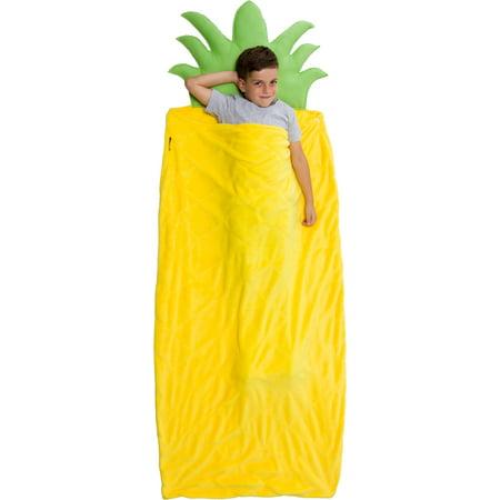 Food Novelties - Silver Lilly NEW Plush Fleece Pineapple Giant Novelty Food Sleeping Bag Blanket