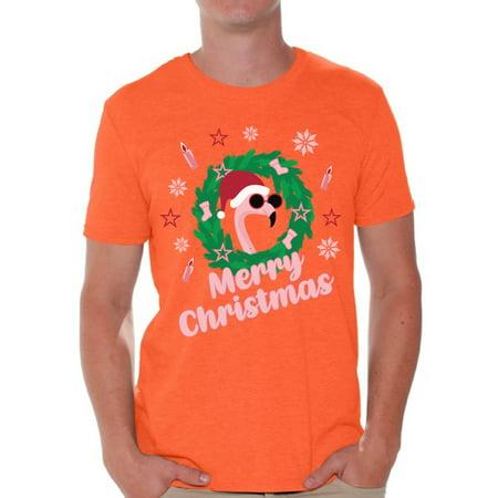 3d8e7178 Awkward Styles Merry Christmas Tshirt Xmas Flamingo Shirt Funny Christmas  Shirts for Men Santa Flamingo Ugly Christmas T Shirt Flamingo Gifts for  Christmas ...