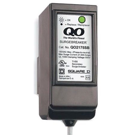 Square D by Schneider Electric QO2175SB QO SurgeBreaker Surge Protective Device Takes 2 Load Center
