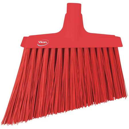 "VIKAN VIKAN Red 11-3/8"" PET Angle Broom, 29144"