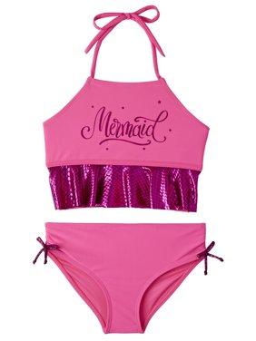 Limited Too Metallic Mermaid Bikini Swimsuit (Toddler Girls)