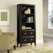 Sauder Shoal Creek 3 Shelf Library Bookcase With Doors Jamocha Wood
