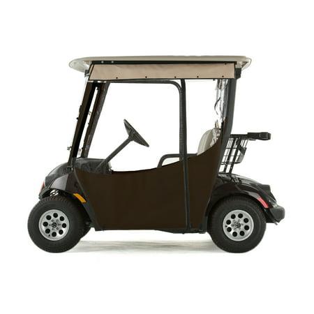Yamaha Drive 2 Golf Cart PRO-TOURING Sunbrella Track Enclosure - True Brown (Golf Cart Halloween Parade)