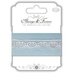 Heart Chain - Craft Consortium Always & Forever Lace Ribbon 3m - Ribbon Heart