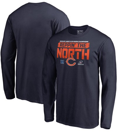 Chicago Bears NFL Pro Line by Fanatics Branded 2018 NFC North Division Champions Fair Catch Long Sleeve T-Shirt - (Malls In North Chicago)