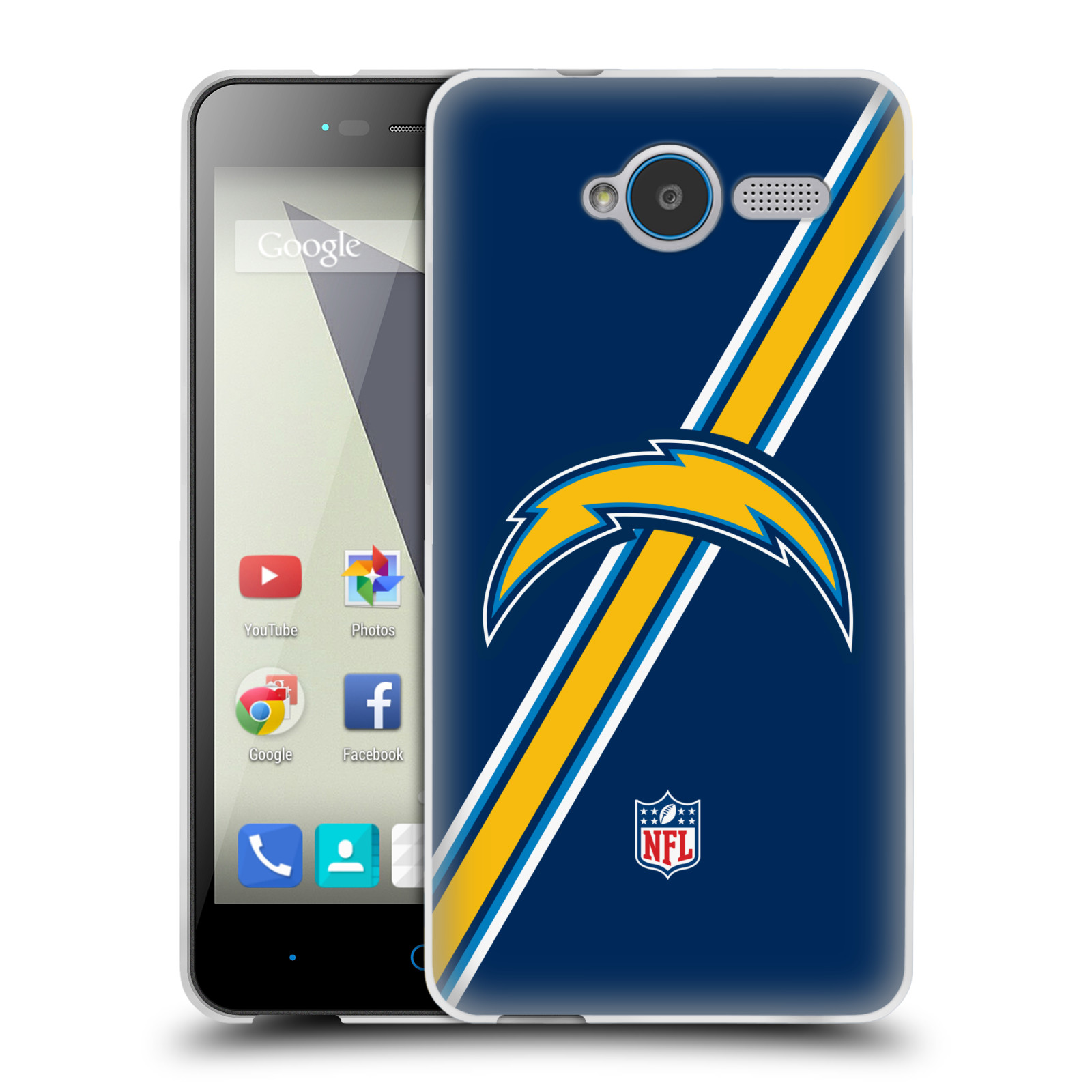 OFFICIAL NFL LOS ANGELES CHARGERS LOGO SOFT GEL CASE FOR ZTE PHONES