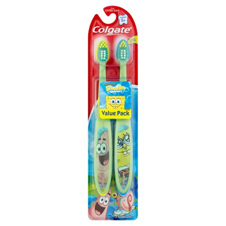 Colgate Kids Spongebob Toothbrush Value Pack  Soft  2 Count