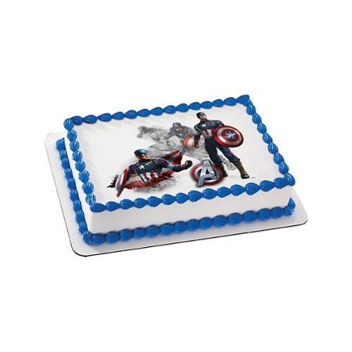 Captain America Quarter Sheet Edible Cake Topper Each Walmartcom