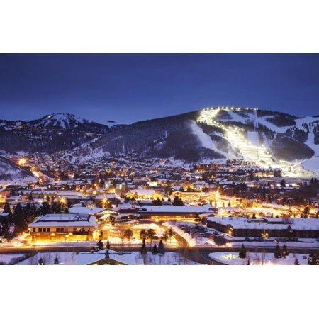 Winter Cityscape of Park City Mountain Resort and Deer Valley Resort, Utah Print Wall Art By Adam