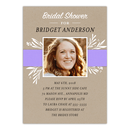 Personalized Wedding Bridal Shower Invitation - Simply Said - 5 x 7 Flat