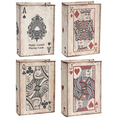 A&B Home Set of 4 Book Boxes