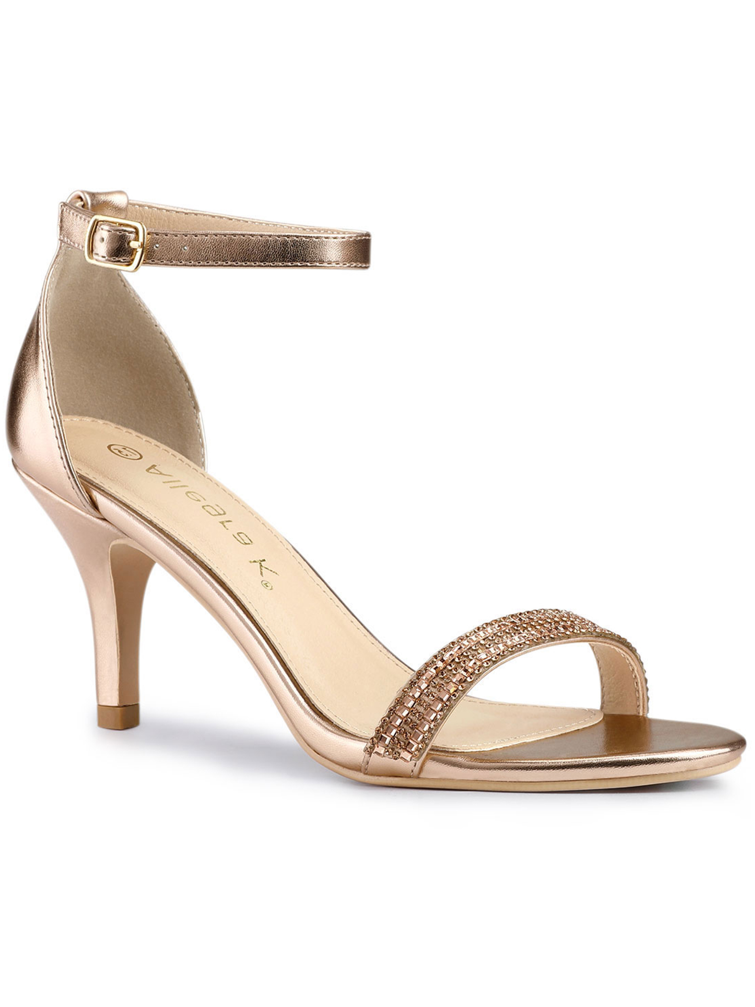 Details about  /Womens Fashion Pointy Toe Cross Ankle Strap Dress Shoes Elegant Kitten Mid Heels