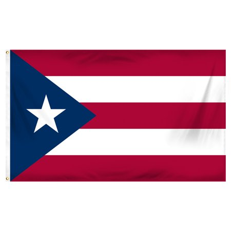 Puerto Rico Flag Car - Puerto Rico 3ft x 5ft Printed Polyester Flag