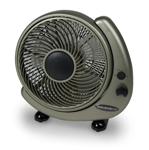 Soleus 3-Speed Electric Rotating Table Fan with Surge Protector