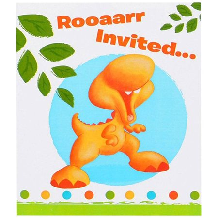 Little Dino 1st Birthday Invitations 8pk