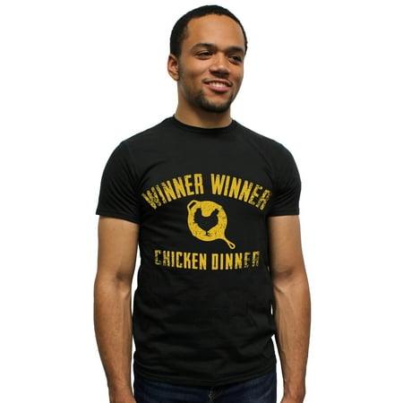 Playerunknown's Battlegrounds PUBG Shirt Winner Winner Chicken Dinner Mens' T-shirt (Battleground Jersey)