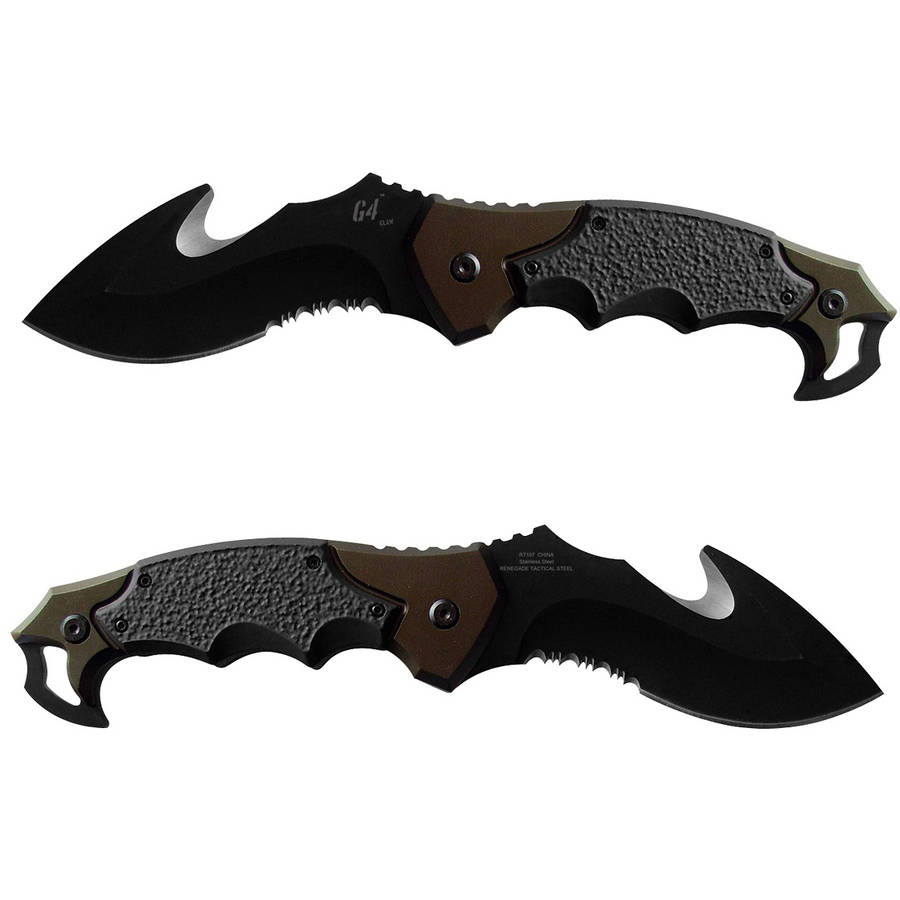 "Renegade G4 Claw Knife, 4.125"" Blade"