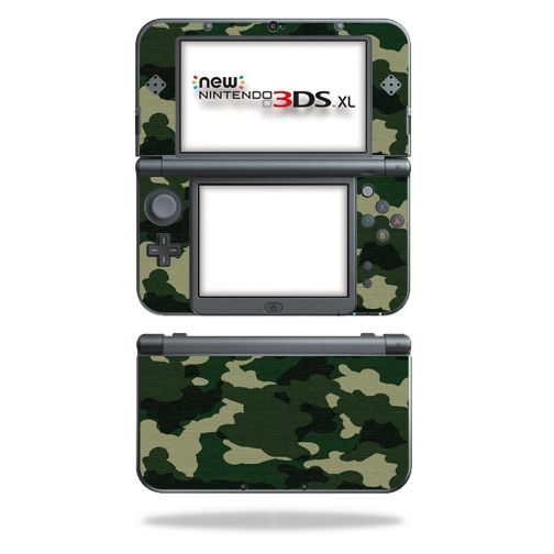 MightySkins Protective Vinyl Skin Decal for New Nintendo 3DS XL (2015) cover wrap sticker skins Green Camo