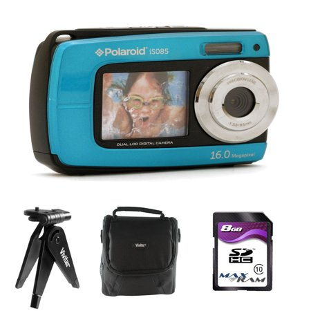 Vivitar Waterproof 18.1MP Digital Camera IE085 - Blue w/ Accessory Kit Digital Blue Vivitar Vivicam