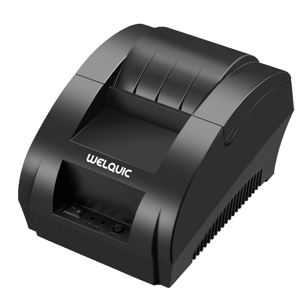Welquic 58MM USB Thermal Receipt Printer, High Speed Printing 90mm/sec, Compatible with Android & IOS & Windows & Linux systems and ESC / POS Print Commands Set