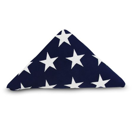 Veterans Day Flag (ANLEY [Memorial Flag] American US Flag 5x9.5 Feet Cotton For Veterans - Embroidered Stars and Sewn Stripes - 4 Rows of Lock Stitching - USA Burial Casket Flags with Brass)