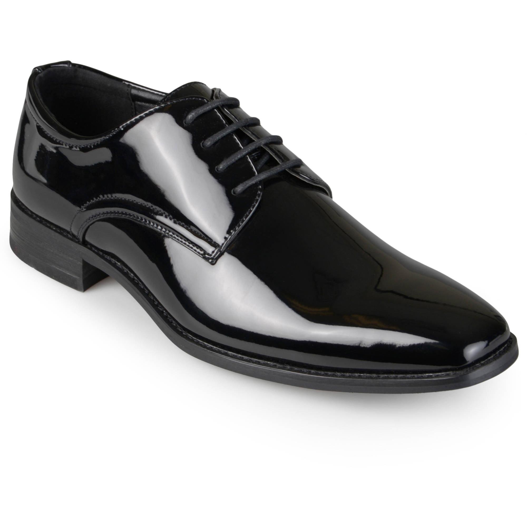 Daxx Men's Lace-Up Faux Leather Dress Shoes